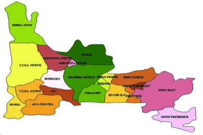 Map of Ogun State Showing Local Government Areas